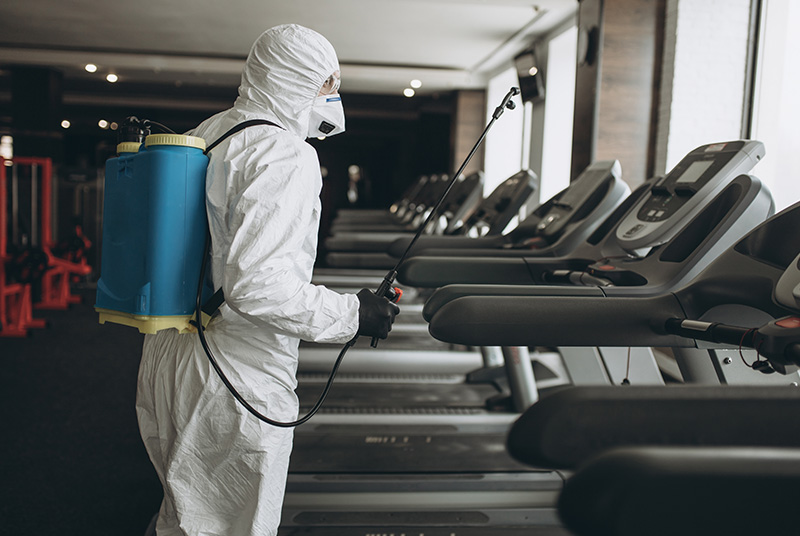 Palace Restoration is offering COVID-19 Business Cleaning services for a public gym
